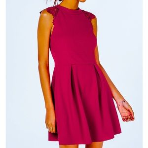 NWT Speechless Lace-Contrast Fit & Flare Dress